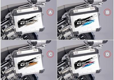 protezioni grafiche laterali borse alluminio (dx+sx)